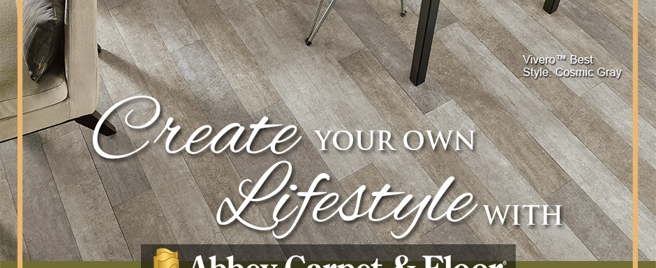 Create Your Own Lifestyle with Abbey Carpet & Floor. Armstrong Flooring Vivero™ Best | Style: Cosmic Gray