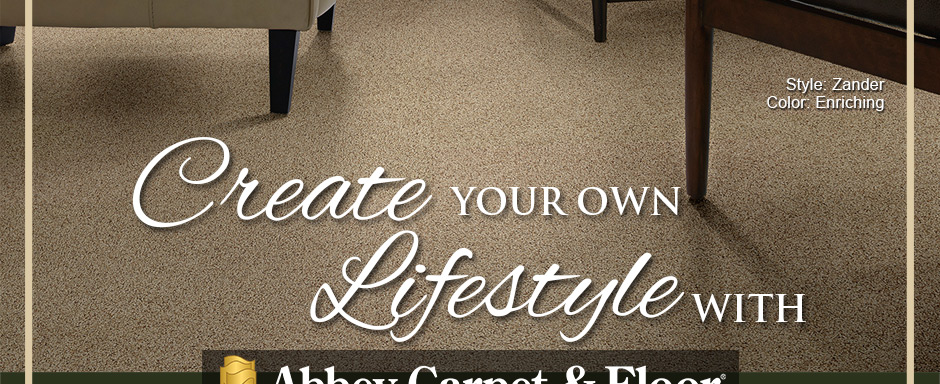 Create Your Own Lifestyle with Abbey Carpet & Floor. Shaw Style: Zander | Color: Enriching